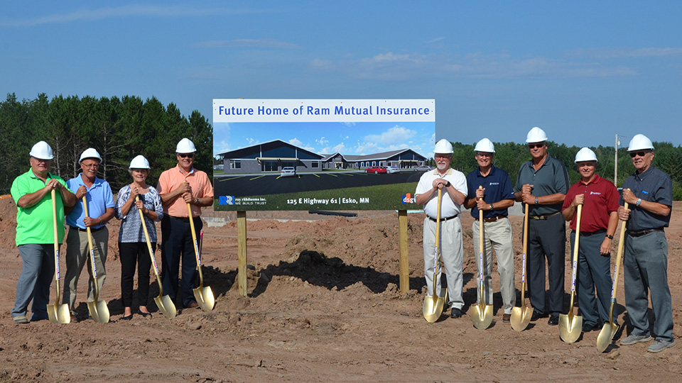 Photo of Board Members at Ground Breaking Ceremony
