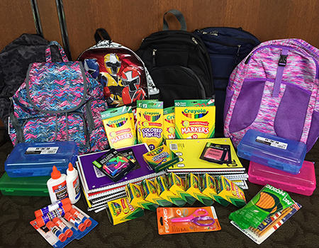 School supplies donated by RAM